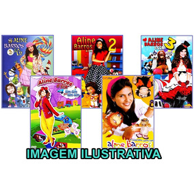 Coleção Aline Barros E Cia Volumes 1,2,3,4 + Dvdôke 5 Dvds !