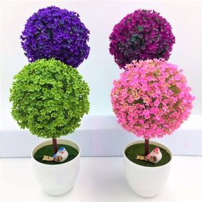 Mini Árbol Artificial Decoración Hogar Flores Bonsai Plantas