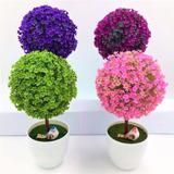 Mini Árbol Artificial Decoración Hogar Flores Bonsai Plantas