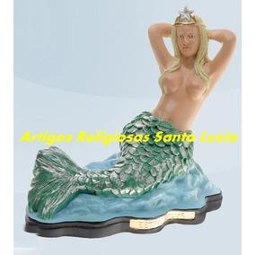 Imagem Linda Sereia Estrela Dalva Escultura 40cm Fabricamos