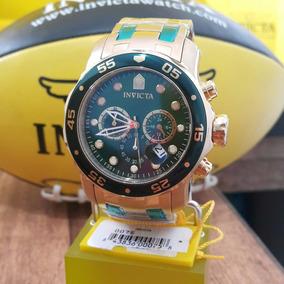 Relógio Invicta 0075 Pro Diver Banho Ouro 18k Dia Dos Pais
