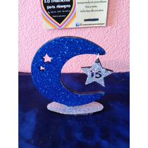 Souvenirs 15 Años Fibrofacil Luna Con Estrella Colgante Deco
