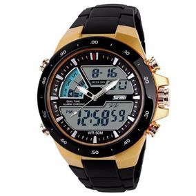Relógio Masculino Skmei Aço Inoxidável Esporte