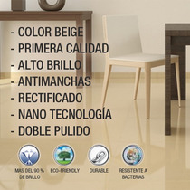 Porcelanato Beige Super Gloss - Nano Rectificado - Mathome