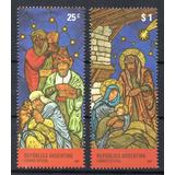 Argentina 2007 Gj 3637/38** Mint Navidad Vitral Vitraux