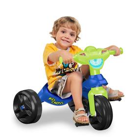 Motoca Triciclo Velocípede Bandeirante Menino Kid Cross Azul