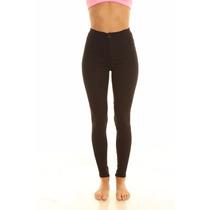 Pantalon Chupin Skinny De Vestir Negro Mujer Marca By Hit