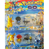 Pack 4 Pokemon 1 Pokebola Y Figura Set Coleccion 9 Cm Alto.