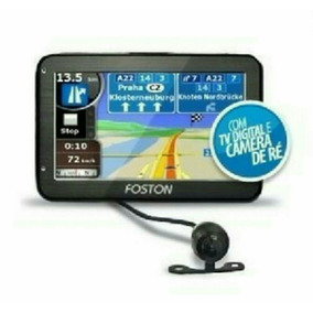 Gps Automotivo Foston 4.3 Tela Tv Digital Com Câmera De Ré
