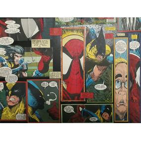 Quadro Painel Wolverine Homem Aranha Único Artesanal Marvel