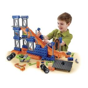 Fisher-price Hot Wheels Trio Truco Rampa Constructor