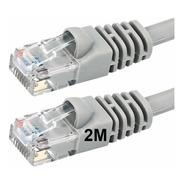 Cable De Red Utp Patchcord 2 Metros Inyectados Cat5e Cba