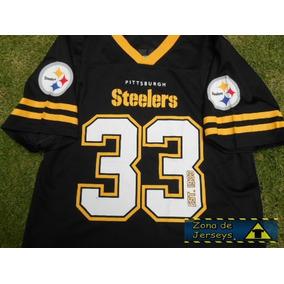 Jersey Nfl Steelers Pittsburgh Acereros Negra Original