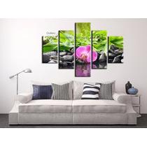 Cuadros Decorativos De Flores - Orquídeas Piedras Zen Agua