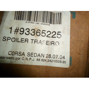 Spoiler Traseiro Corsa 2002 Gm 93365225