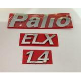 Kit Emblema Palio + Elx + 1.4 Cromados