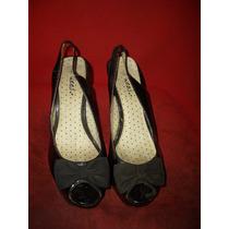 Zapatos De Patente Tipo Plataforma Y Tacon Alto - Usados