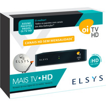 ( 5) Receptores Elsys Oi Tv Livre Hd Etrs35/37