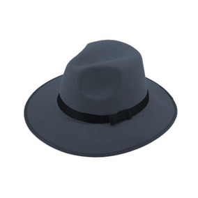 Sombrero Ala Ancha Vintage Hipster Funky Excelente Gris 821