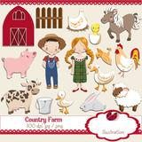 Kit Imprimible Animales De Granja 15 Imagenes Clipart