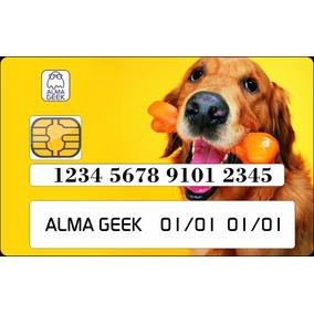 Golden Retriever - Adesivo Para Cartão