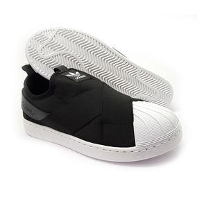 Tênis adidas Feminino Slip On Preto Original Na Caixa