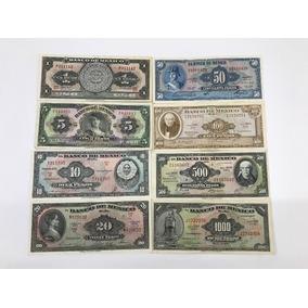 Colección De 8 Billetes Antiguos Mexicanos, . Grado 2
