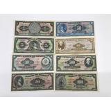 Colección 8 Billetes Antiguos Mexicanos. Grado 1 Sin Circ.