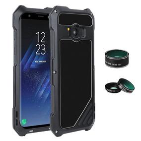 Bumper Case Aluminio Kit Lentes De Cámara Samsung S8