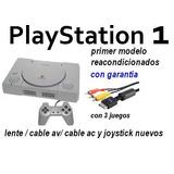 Playstation 1 Completo Joystick Juegos Av/ac Modelo Grande
