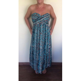 Solero Vestido Seda Con Breteles Desmontables Importado