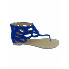 Sandalias Importadas Qupid Modelo Athena-500 Azul