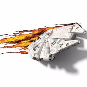 Millenium Falcon Star Wars Luminaria 3d Light Fx