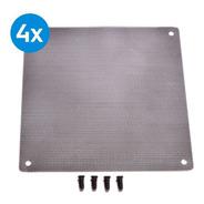 4x Filtro Ultra Slim Anti Poeira Cooler Fan 120mm +parafusos
