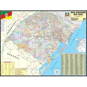 Mapa Do Rio Grande Do Sul Político Rodoviario Ed. Atualizada
