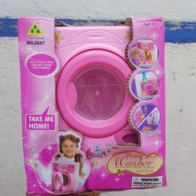 Lavadora De Juguete Funciona Realmente Con Agua Y Detergent.