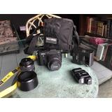 Cámara Nikon 1 V1 Con 2 Lentes, Parasoy Flash Profesional.