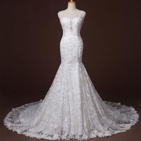 Vestido De Noiva Chiffon Luxo Casamento Sob Encomenda Barato