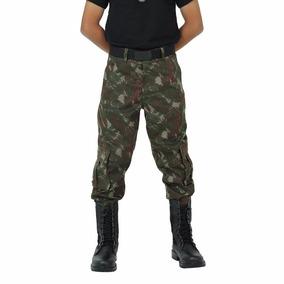 Calça Cargo Infantil Camuflada Exército Brasileiro