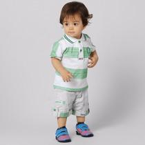 Camisa Do Palmeiras Para Bebê, Polo + Bermuda Oficial