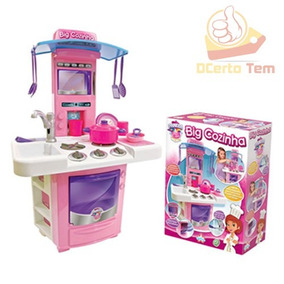 Mini Cozinha Infantil C/ Acessórios Fogão Pia Forno Coifa