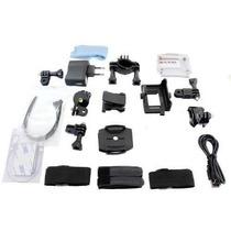 Kit Acessórios Câmeras Sjcam Sportcam Eken Gopro + Luminaria