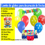 Globos Surtido Latex Metalizado Decorar Fiestas Mario Bross