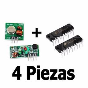 Encoder Decoder Ht12e Ht12d Transmisor Receptor Rf (4 Pcs)