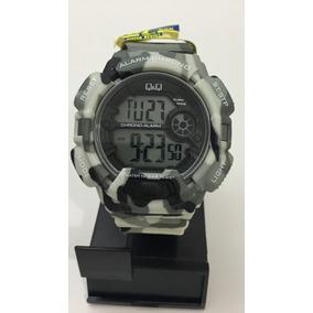 Reloj Q&q Camuflaje Sumergible, Alarma Y Cronometro. Sj
