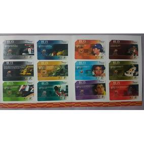 Série Airton Senna - 12 Cartões + Álbum - Nbt - 2002