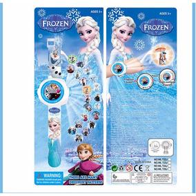 Reloj Proyector Frozen 20 Imagenes, Nuevo Y Sellado