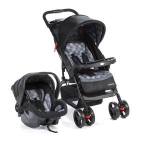 Carrinho + Bebê Conforto Travel System Moove Cosco Preto