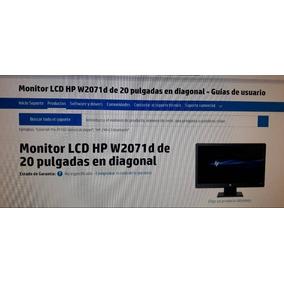 Monitor Pantalla Hp Lcd 20 Oferta Computacion