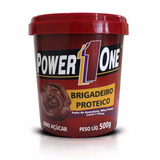 2 Pastas De Amendoim - Brigadeiro Proteico Power 1 One 500g